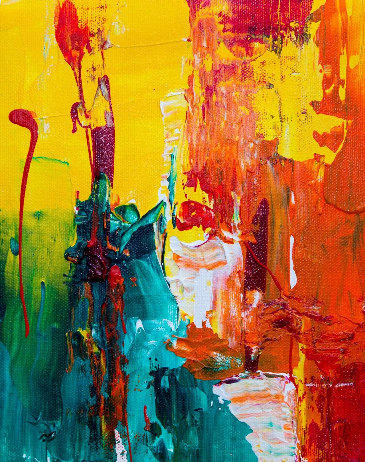 Artist Splashes Paint to Express Emotion & Personality